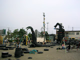 Tire Park, near Kamata Station, Tokyo