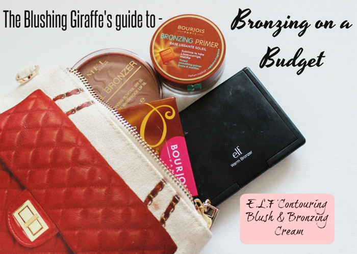 bronzing on a budget e.l.f contouring blush and bronzing cream review and swatch