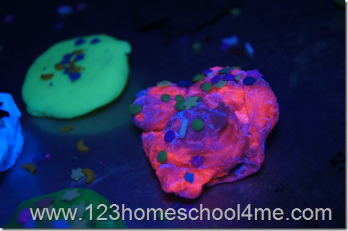 Glow in the dark playdough