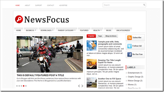 NewsFocus-Blogger-Template
