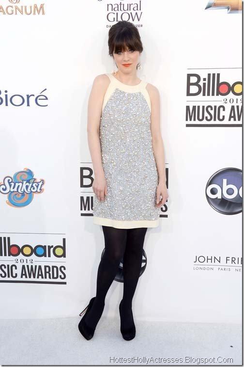 Zooey Deschanel Hot Pics in White Dress 2