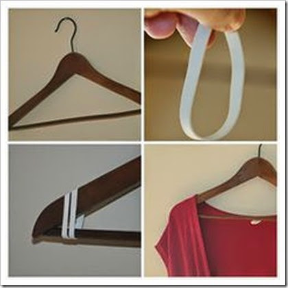 rubber band on hanger