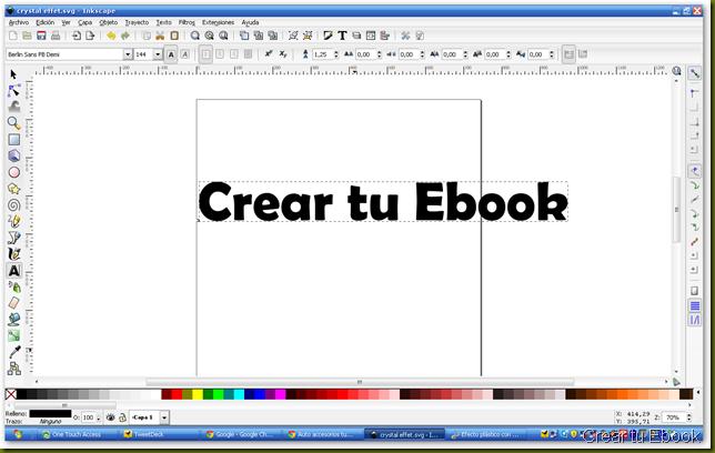 texto plastico con inkscape