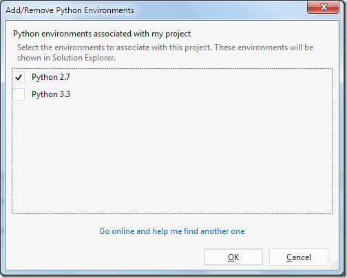 Select-Python-DJango-Environment-Visual-Studio