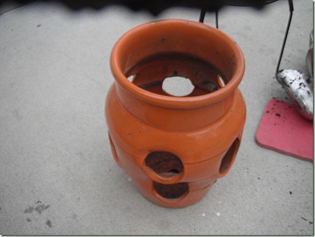 Empty strawberry pot
