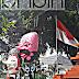 Topeng Raksasa di Depan Rumah Dinas Wali Kota Cirebon