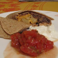 Black Bean and Pineapple Quesadilla
