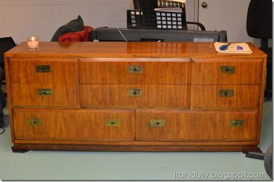 sewing room dresser before