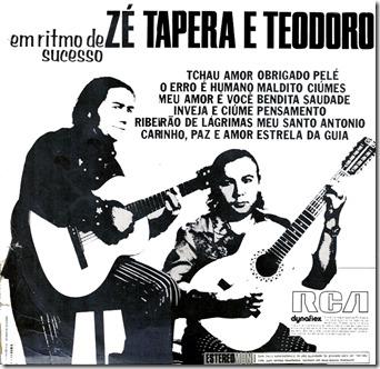 Zé Tapera  Teodoro (1973) Contracapa