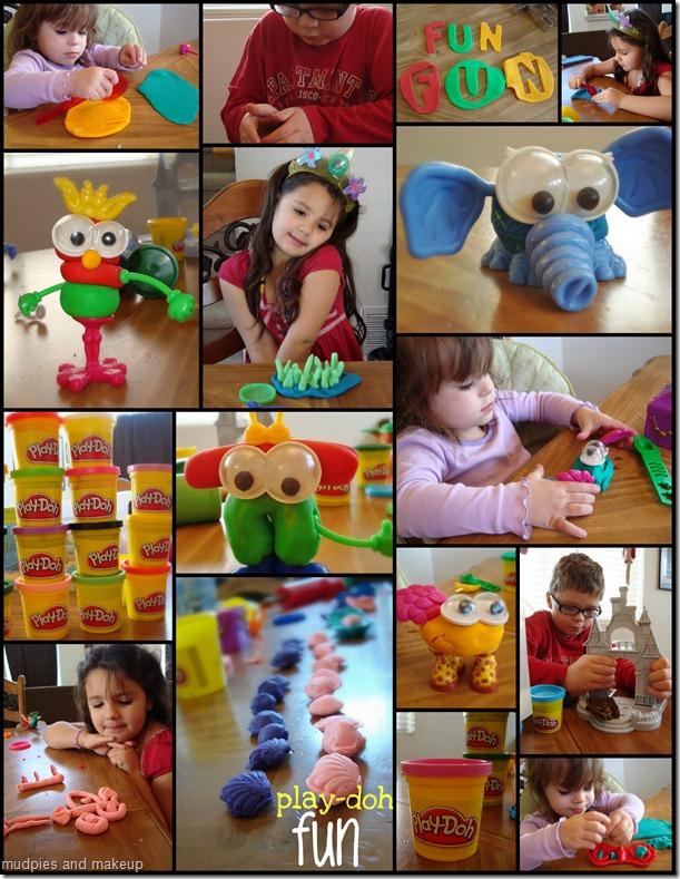 playdoh collage