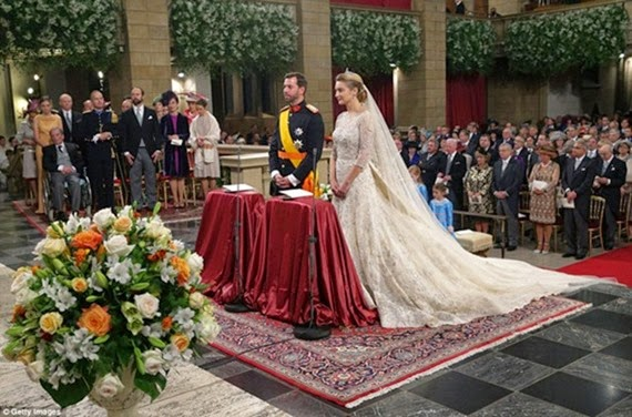 El matrimonio tuvo lugar en la catedral de Notre Dame del Ducado de Luxemburgo. El civil se celebró ayer.