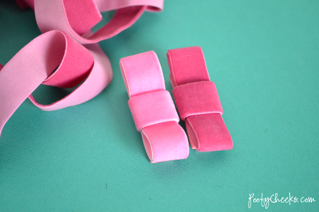 Velvet Ribbon Hair Clip Tutorial