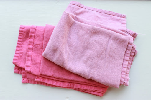 My favorite worn kitchen towels (mom always keeps these way in the back of the drawer)
