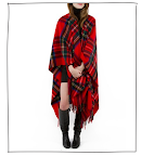 I am constantly freezing at my desk. This oversized tartan wool wrap would certainly keep in the heat. ($275, annmashburn.com)