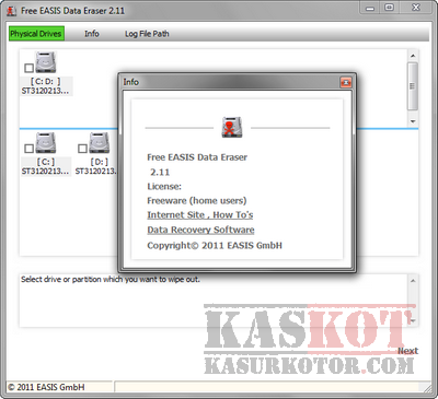 EASIS Data Eraser – Menghapus Permanen Data di Hard Disk