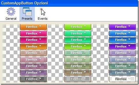 CustomAppButton cambiare colore al pulsante arancione Firefox