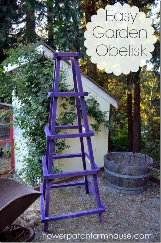 easy garden obelisk 1