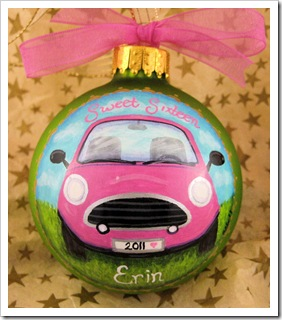 Sweet Sixteen Pink Car Ornament