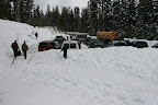 The parking lot is an Oregon Sno Park, and it is rather small, so be sure to carpool.