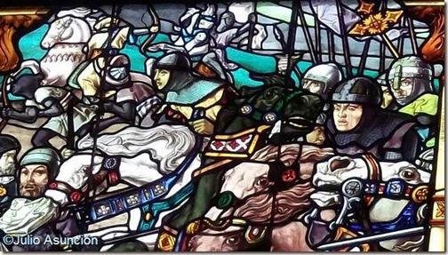Batalla de las Navas - Vidriera de Roncesvalles
