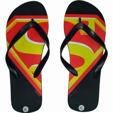 Superman Sandals from Stylin Online