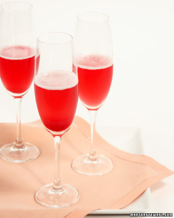 Red Currant Champagne Cocktail. (marthastewart.com)