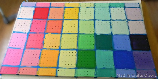 painted pegboard