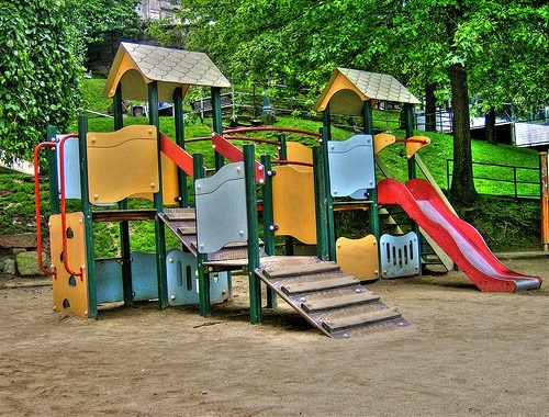 Cambios de color con Photoshop - Imagen original parque infantil