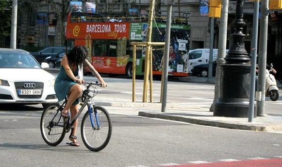 Ciclista em Barcelona