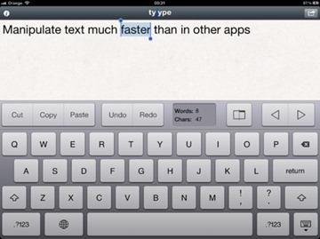 Tyype – Gesture Text Editor for iPhone and iPad