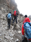 Climbing up to Barafu Camp - another short day.