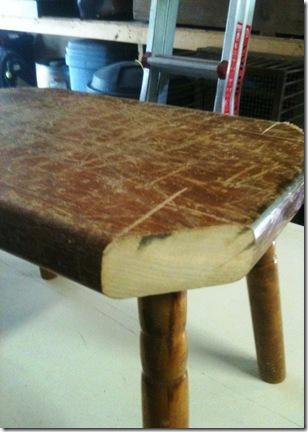 stool with corners cut