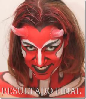 maquillaje de demonia