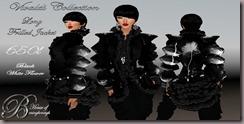 Vivaldi Long jacket Black white flower adb
