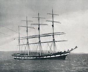 El AMA BEGOÑAKOA fondeado a la entrada del Clyde. De la revista VIDA MARITIMA. Año 1903