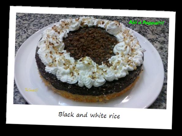 Fotografia della torta Black and white rice