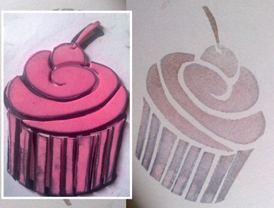 sello cupcake cereza