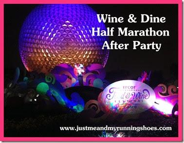 Wine & Dine Half Marathon After Party Title
