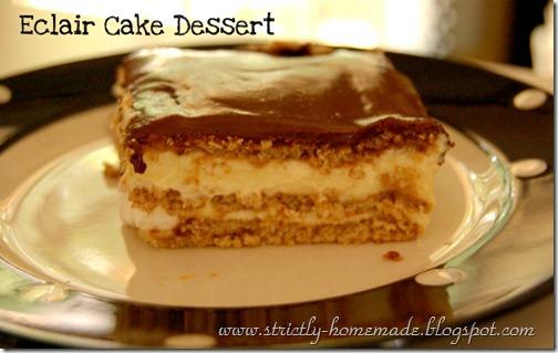 Eclair Cake Dessert Pic