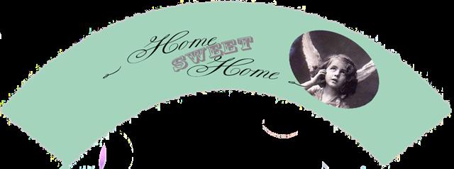 home sweet home grønn vintage angel