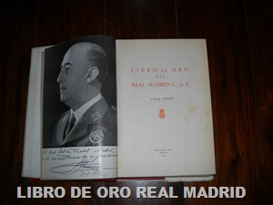 LIBRO ORO REAL MADRID