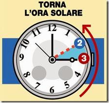 Torna l'ora solare