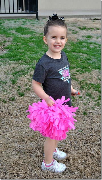 Hannah's First Cheerleading Game 011