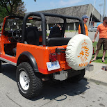 KNVB jeep in Toronto in Toronto, Ontario, Canada