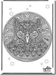 coruja mandala