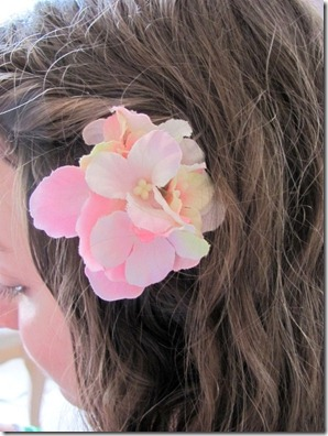 flower in her hair