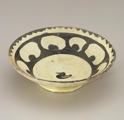 Bowl | Origin:  Iran or Uzbekistan | Period: 9th-10th century | Details:  Not Available | Type: Earthenware with glaze | Size: H: 4.8  W: 15.9   D: 15.9  cm | Museum Code: S1997.126 | Photograph and description taken from Freer and the Sackler (Smithsonian) Museums.