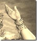 Lord Krishna's hand