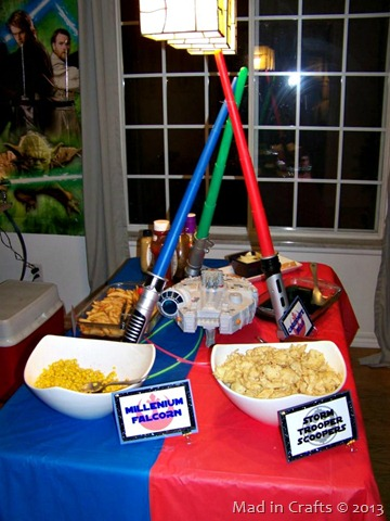 star wars party table - Star Wars Party Decorations