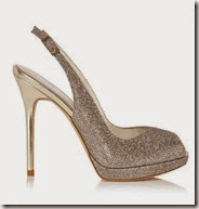 Karen Millen Metallic Peep Toe Shoe
